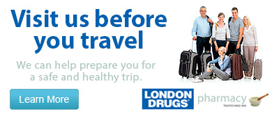 Visit us before you travel. We can help prepare you for a safe and healthy trip.